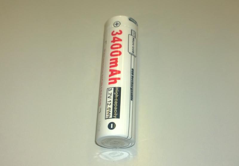 LUMINTOP 18650 (パナソニック製 Cell)Li-ionバッテリー3400mAh 3.7V