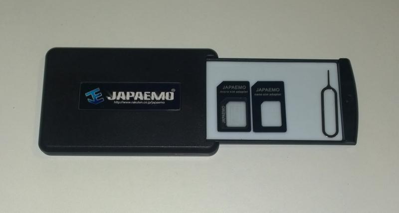 粘着式ケース+SIM変換アダプタ 4点 セット JSC-1503